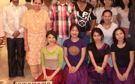 インドから東京に訪れた著名なインド舞踊家